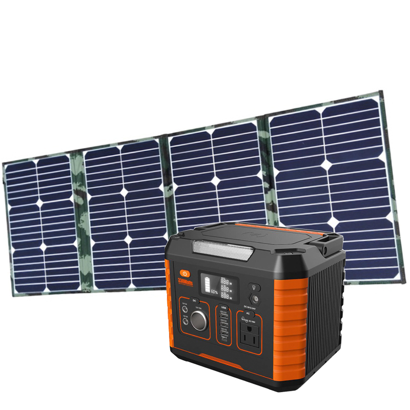 Solar Generator Tv And Lights 500w 1000w Portable Lithium Battery Energy Storage System For Led Light