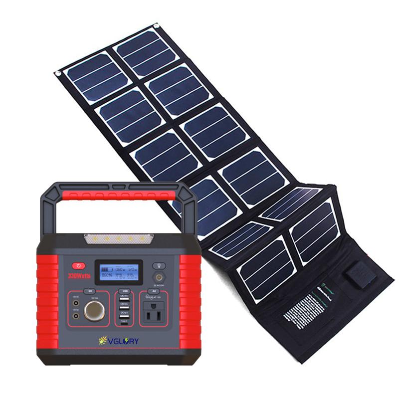 Off-grid Led Mini Flexibility 300w Portable Camping Battery Backup Home Application Ac Solar Power