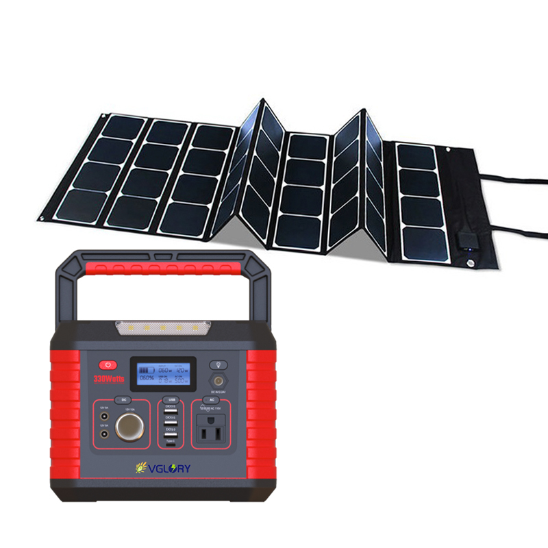 Outdoor Standing 200w 300w Off-grid Industrial Portable Camping Power Panel Solar Home Generator System