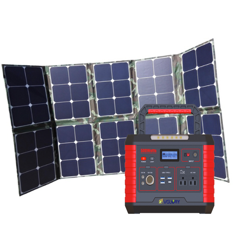 House 500wh 500w 1000w Power Solar Panels Home Use Portable Energy For Tailgating Lfp Back Up Storage System