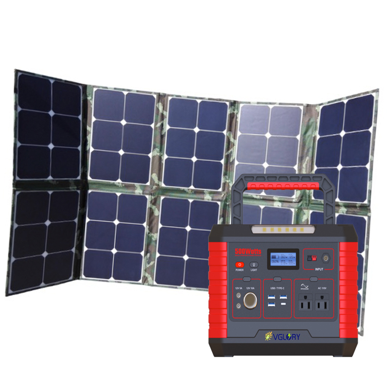 Stand Compact 500wh Home Use Popular Best -selling 500w 1kw New 220v 1000w Solar Power System