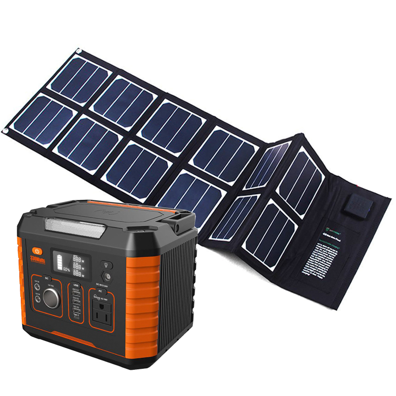 Off-grid Outdoor Helper Power Station 500w 1000w 1kw Ground Mounting Solar Generator For Monitoring System