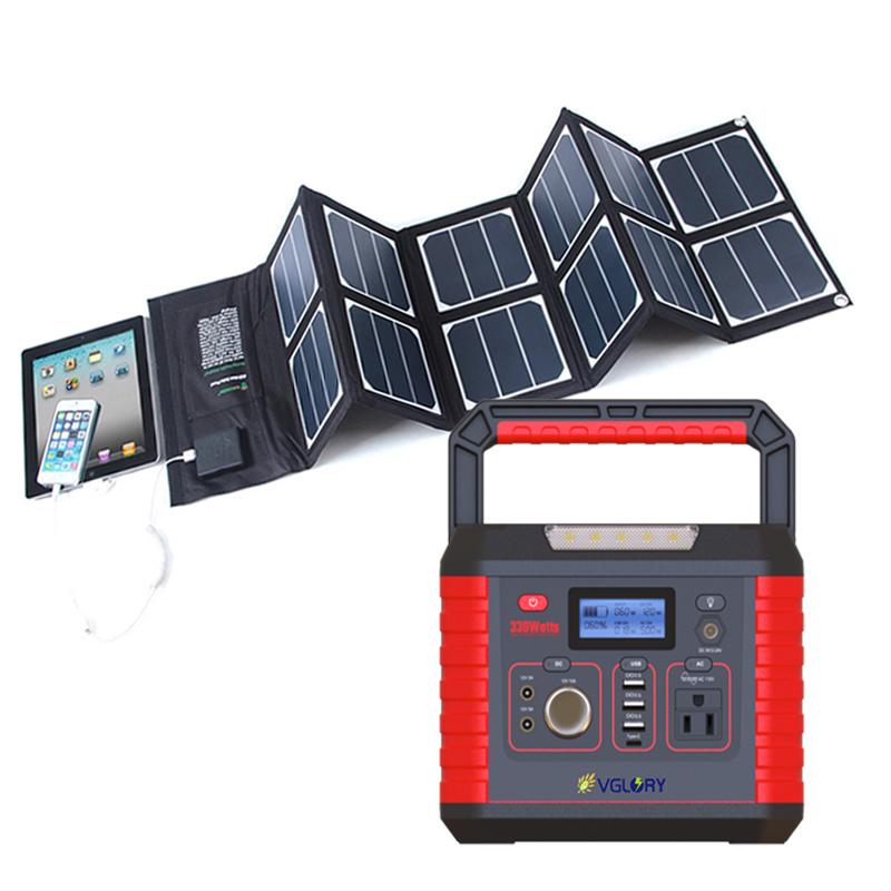 1000w Off Grid Generator Flexibility Camping Ups Backup Home Use 500w 300w 1kw Solar Power System