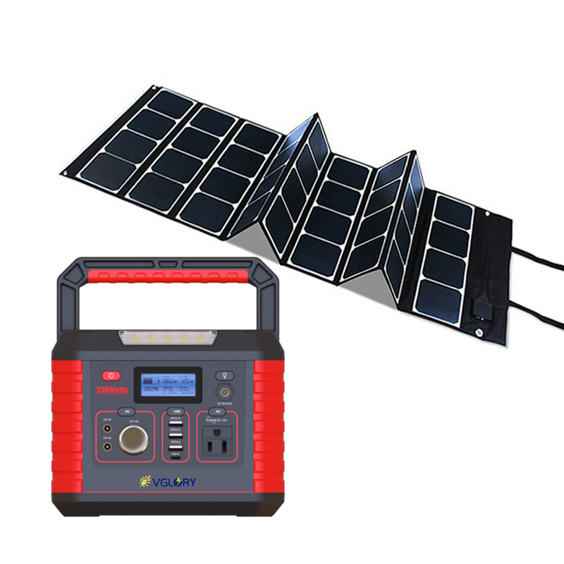 Small Silent Outdoor Panel Dc 300w 200w System Portable Battery Batteries 12v Solar Generator 110v