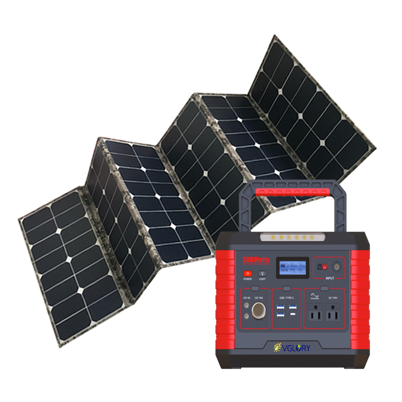 Inventor Lighting Indoor Power System High Quality 1000w Small Portable Solar Generator For Homes