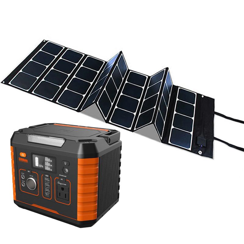 Power Home 24v 48v 300w Lifepo4 Lithium Generator Off Grid Portable Solar Usb Charging Battery Pack