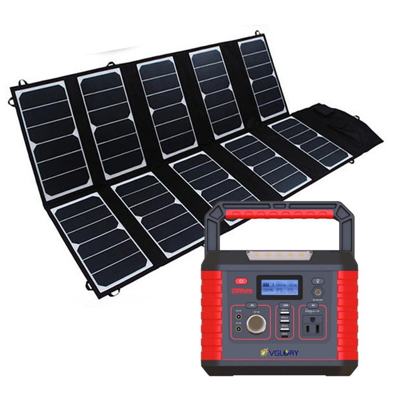 With Panels Packs Powerbank Power System 300watt Generator Portable For Solar Camping Outdoor