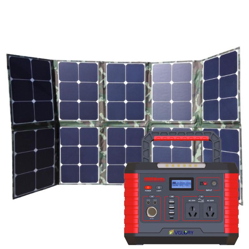 Lighting Home System 500w Generator Portable Mini Panel Energy Solar Inverter Electric Battery Kits