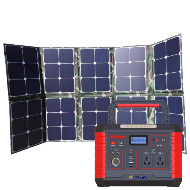 273000mah Emergency Bank Power Box Aluminium Alloy 500w 1000w Kit Panel Bag Solar Energy System 1000wh