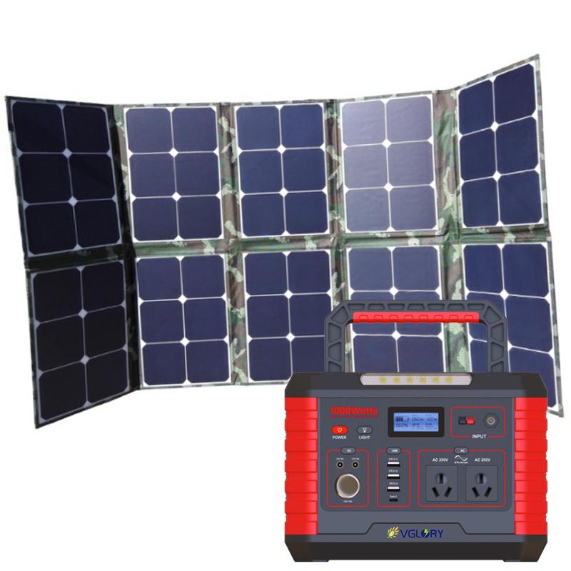 Sale 110v 220v Power Mobile Station 1000w Battery Packs Off Grid 500w Solar Home Generator System