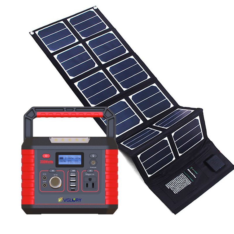 Use Energy Storage 200w 300w Small 52000mah Portable High Capacity 120w Panel Solar Off-grid Power System