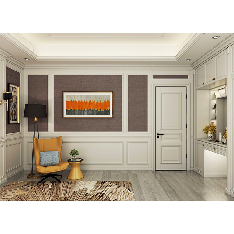 China Light Walnut Italy Style Inside Porte Simple Solid Wooden White Bedroom Door