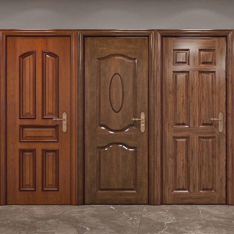 Walnut Modern Latest Design Wooden Hotel Living Strong Room Door Bedroom Door Prices