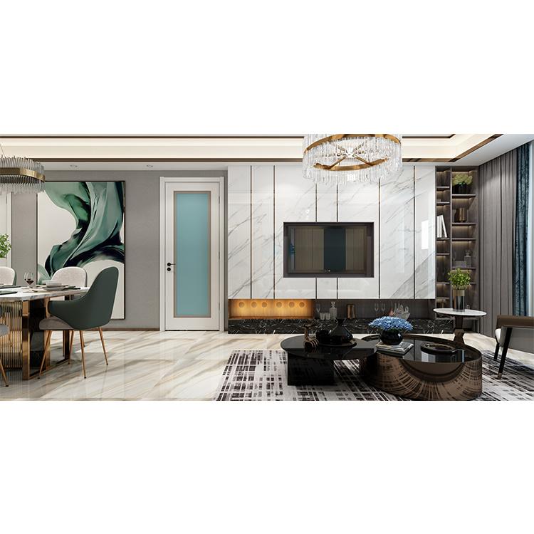 Hot Sale Home Hotel Indoor Room Interior Wooden Mdf Room Flush Door Design