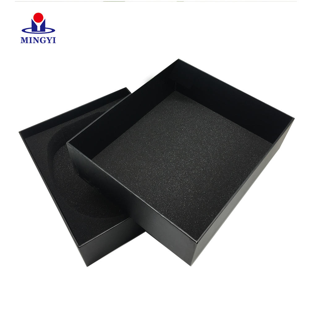 Custom printing square full color small paper packaging Lift-off Lid gift box for jewelry