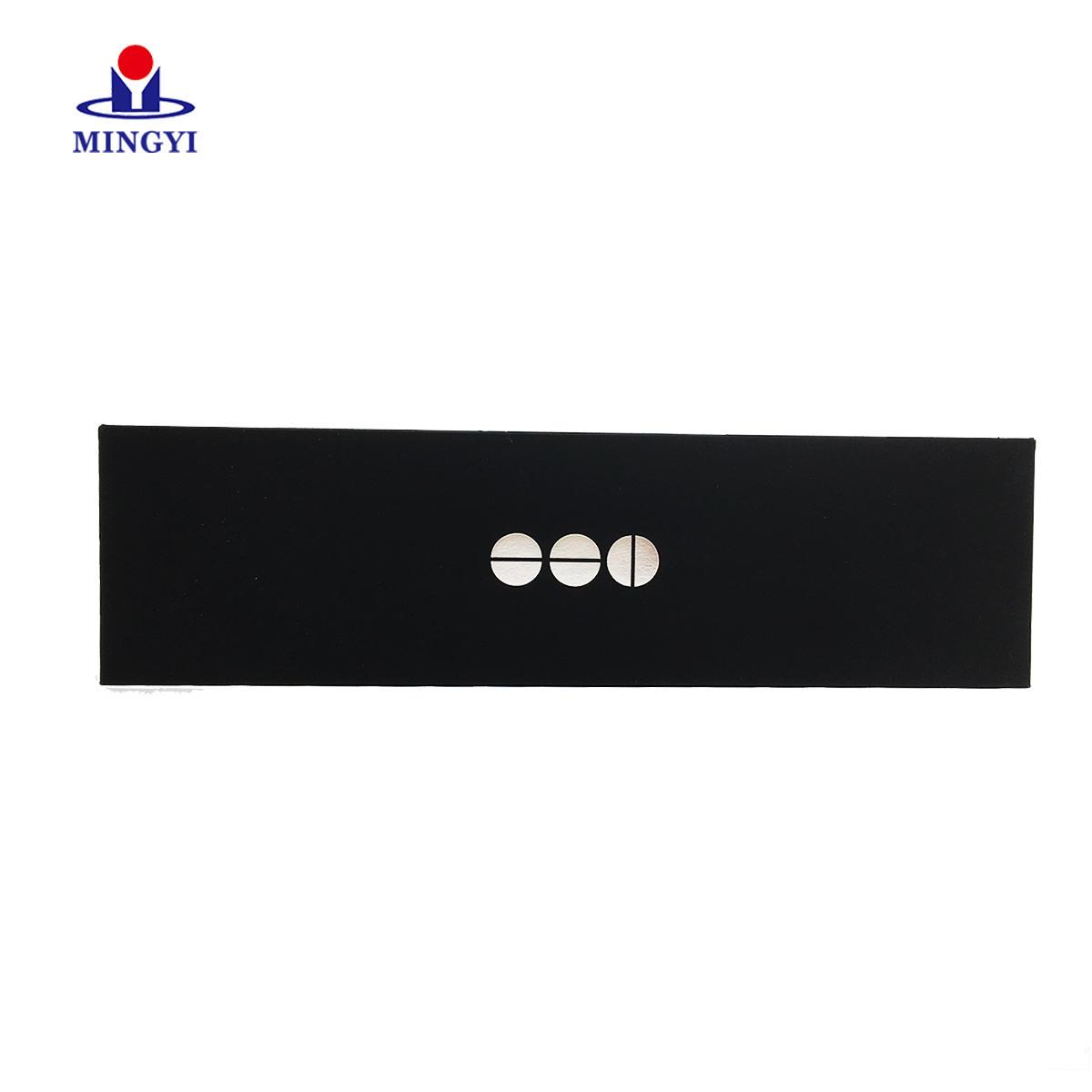 Black Cardboard Paper Card Box Packaging Custom Rigid Book Shaped Business Credit Box Gift Card Box