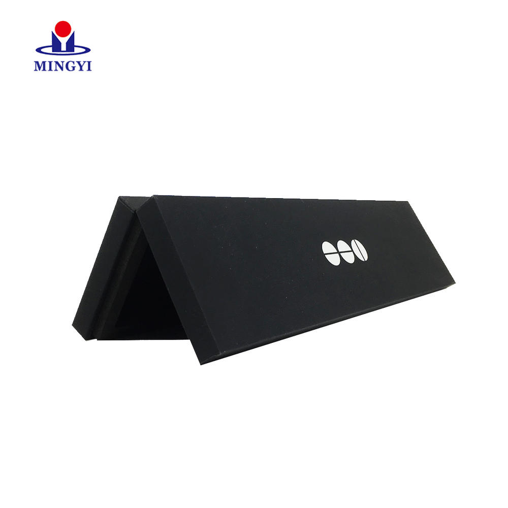 Black Cardboard Paper Card Box Packaging Custom Rigid Book Shaped Business Credit Box Gift Card Box