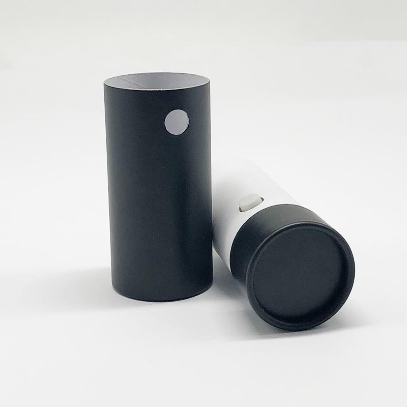 Manufacturer specialized production tea cardboard box packaging design custom black cylinder gift box