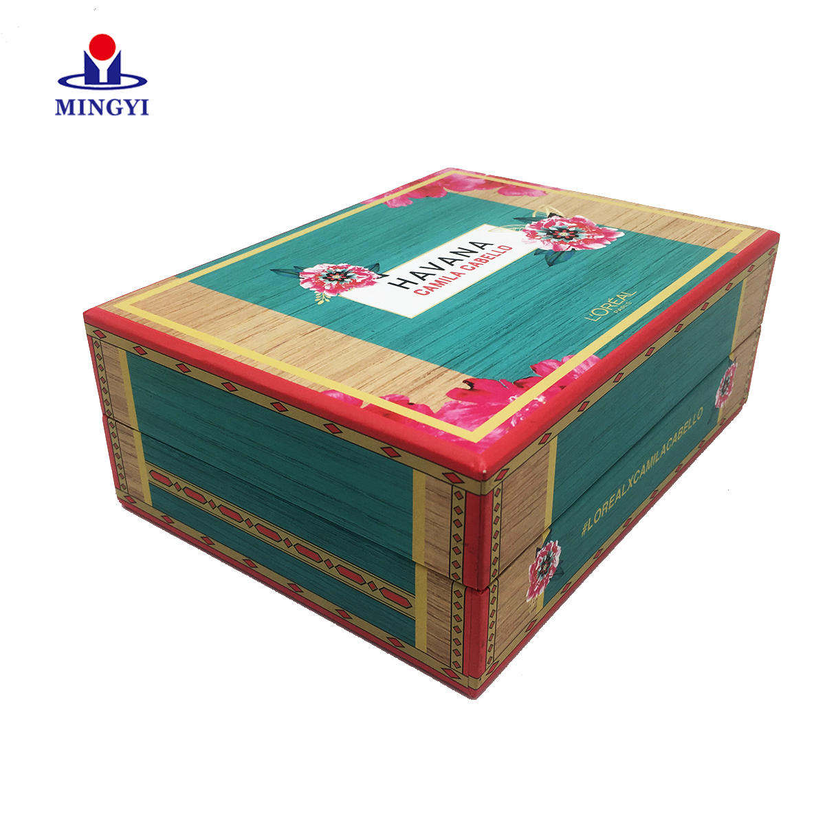 Custom Logo Folding Green Colour Clothing Food Paper Flat Cardboard Packing Luxury Magnetic Gift Box