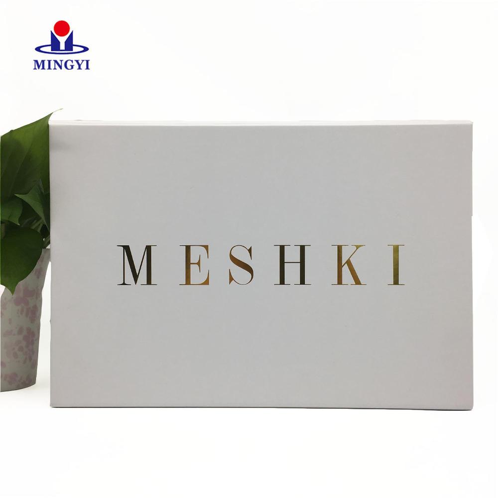Wholesale Custom Retail Logo Printed gift packaging magnetic flap box