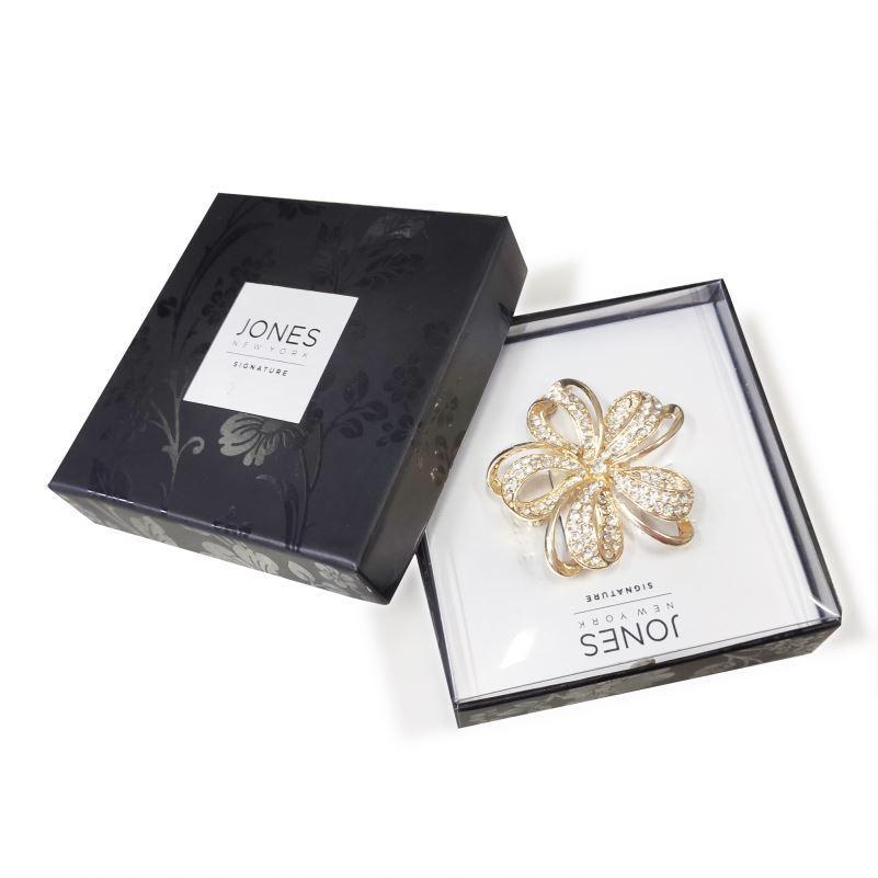 with Pvc Window Jewelry Custom Gift Necklace Wedding Vintage Solid Black Set Handle Display Logo Cardboard Rigid Velvet Ring Box
