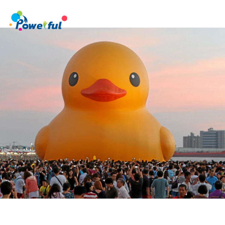 giant inflatable promotion duck /yellow duck for pool floating