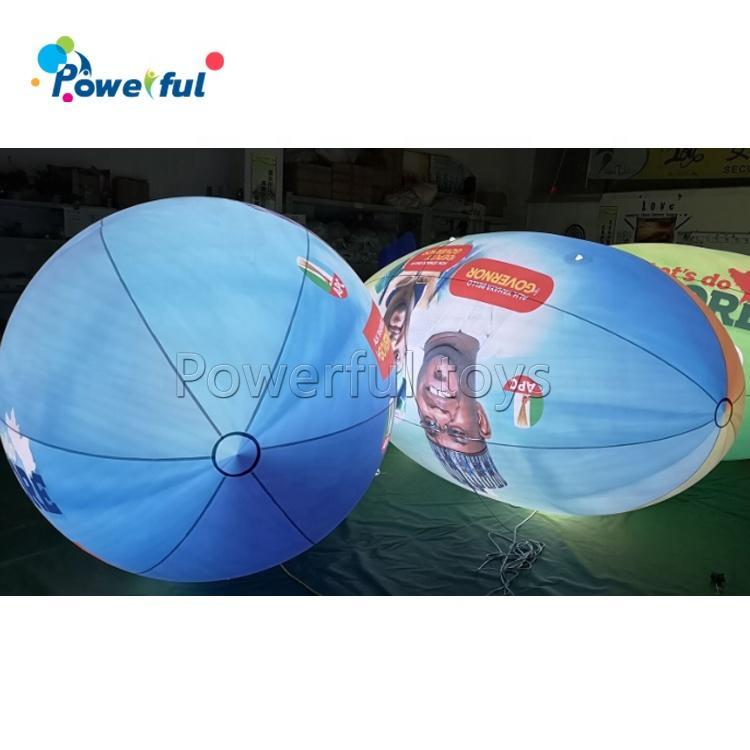 New design led lighting blimp balloon flying inflatable helium blimp
