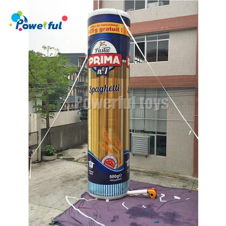 Oxford promotion event decoration inflatable pasta advertising standing model