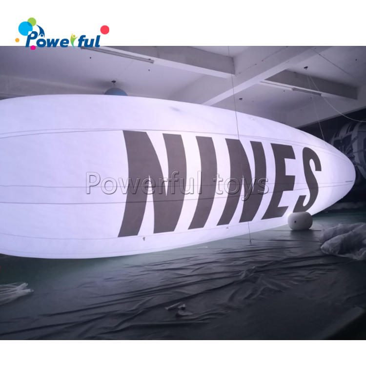 Inflatable Lighting Advertising Blimps LED Flying Giant Helium Airplane with Logo