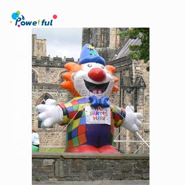 Hot sale 4mH inflatable clown decoration model for advertising