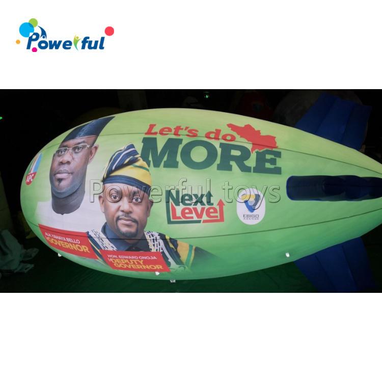 Custom logo flying inflatable hot air balloon airship helium balloon for advertising