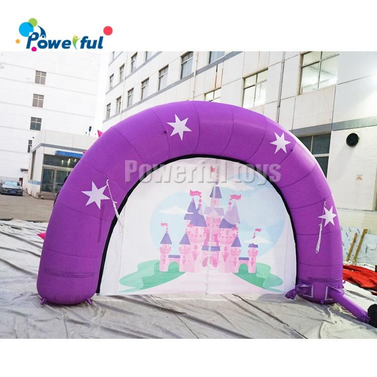 Outdoor advertising event promotion inflatable star arch entrance for sale
