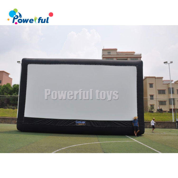 Parking lot commercial projection screenfloating inflatable movie screen for drive-in cinema