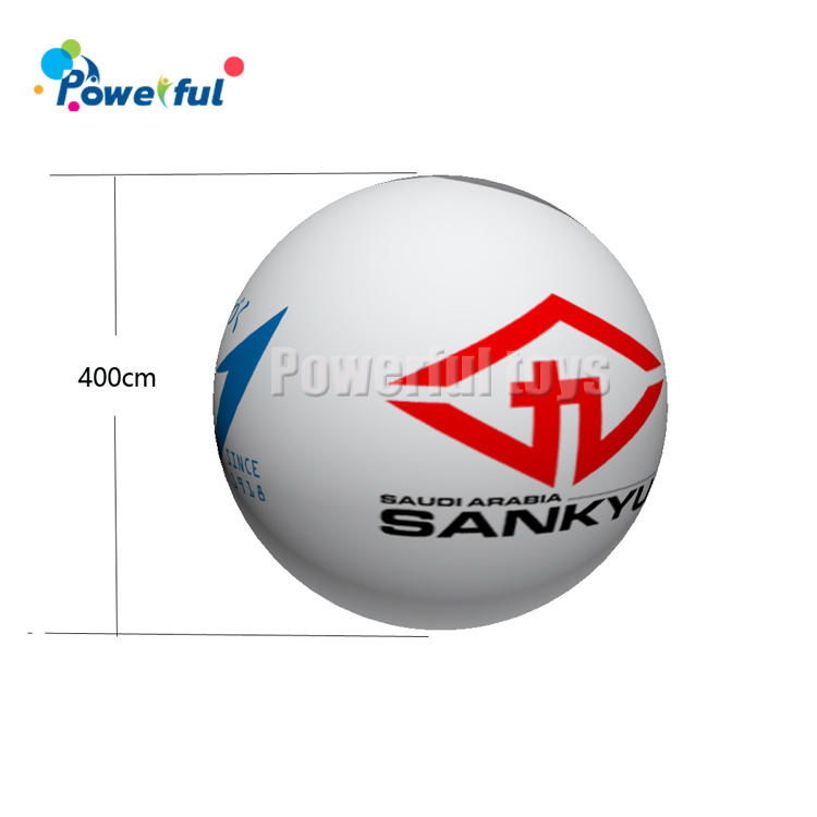 Custom Floating in Sky PVC Inflatable Sphere Helium Balloon For Outdoor Advertisement
