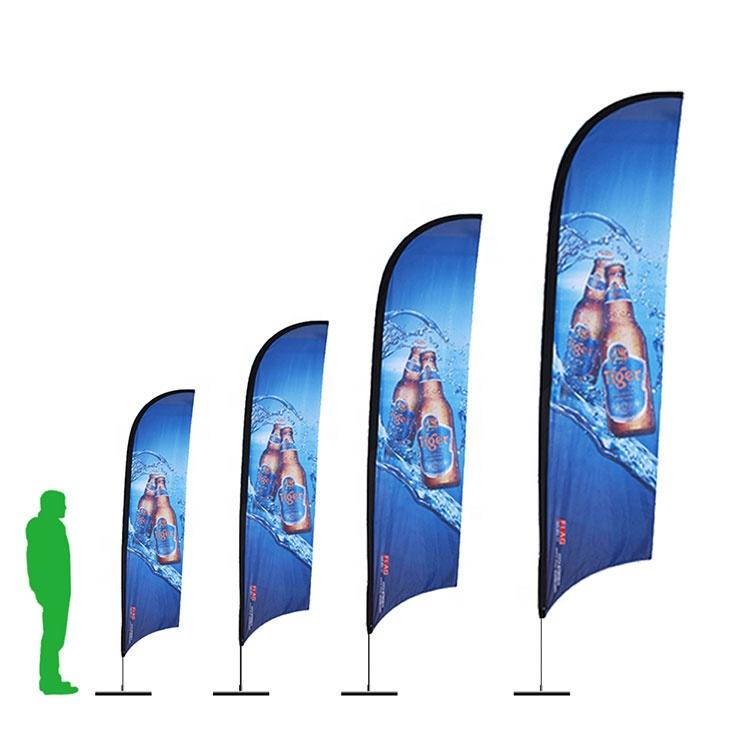 Custom Printing Advertising Feather Knife Flag Stand Flag Beach Flag