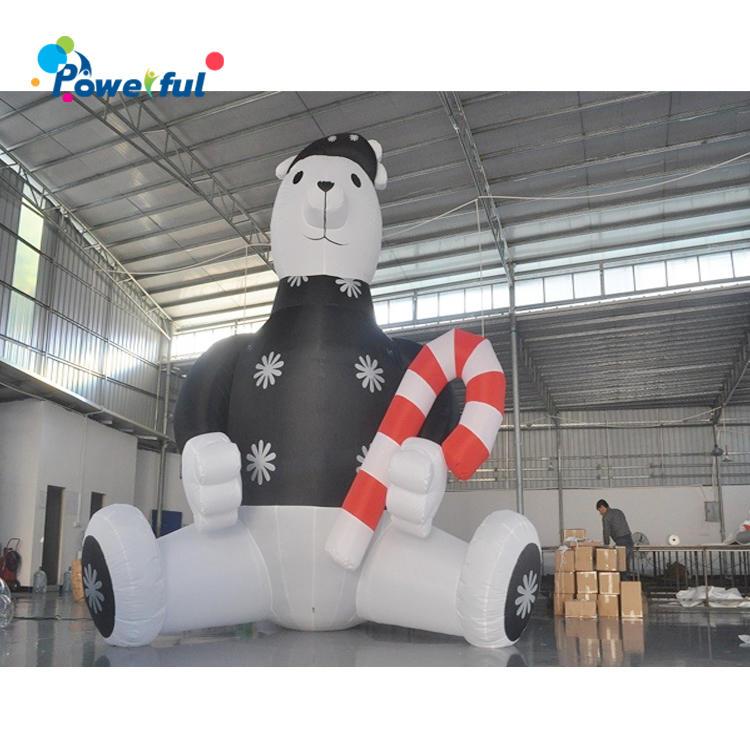 Giant Inflatable White Snow Bear 6m Decoration Christmas Bear