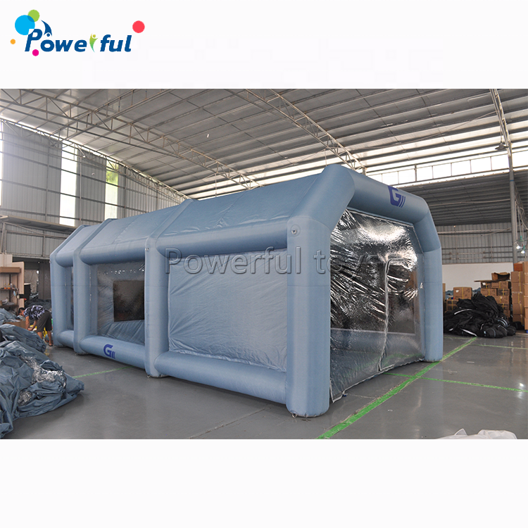 Hot selling inflatable spray booth 26x15x10ft inflatable spray paint booth with filter system