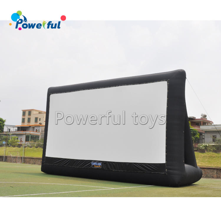 Portable inflatable drive-in cinema movie screen,inflatable outdoor cinema, home air screen for sale