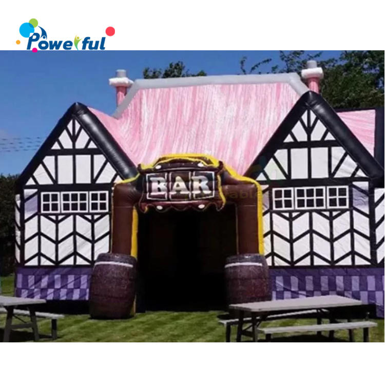 Outdoor family party activities decorated inflatable bar model custom Pub Boothfor inflatable bbq