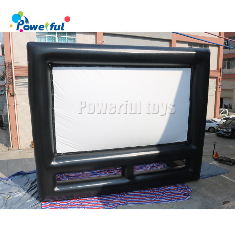 Air tightinflatable movie theater projector screen motorized backyard movie night