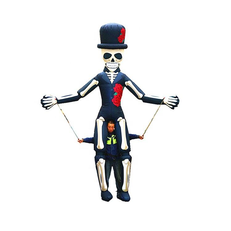 Festival decoration halloween skull skeleton puppet inflatable puppet man costume