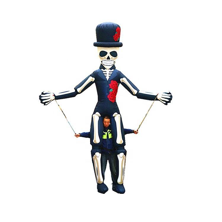 Festival decoration halloween skull skeleton puppet inflatable puppet man costume