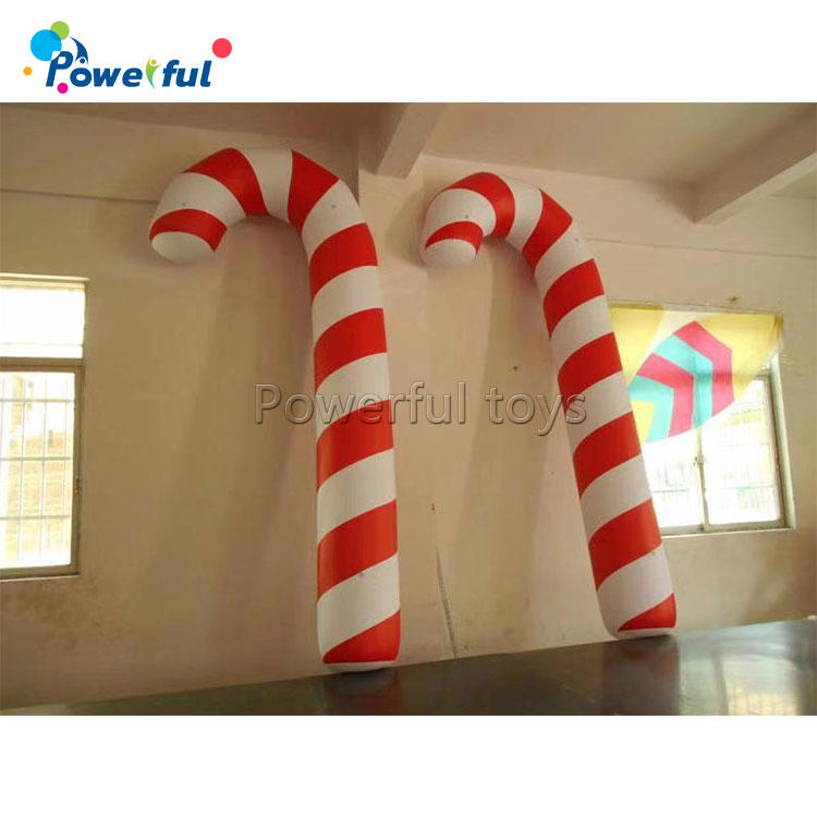 Airtights Christmas Decoration Helium Balloon PVC Inflatable Candy Cane Balloon