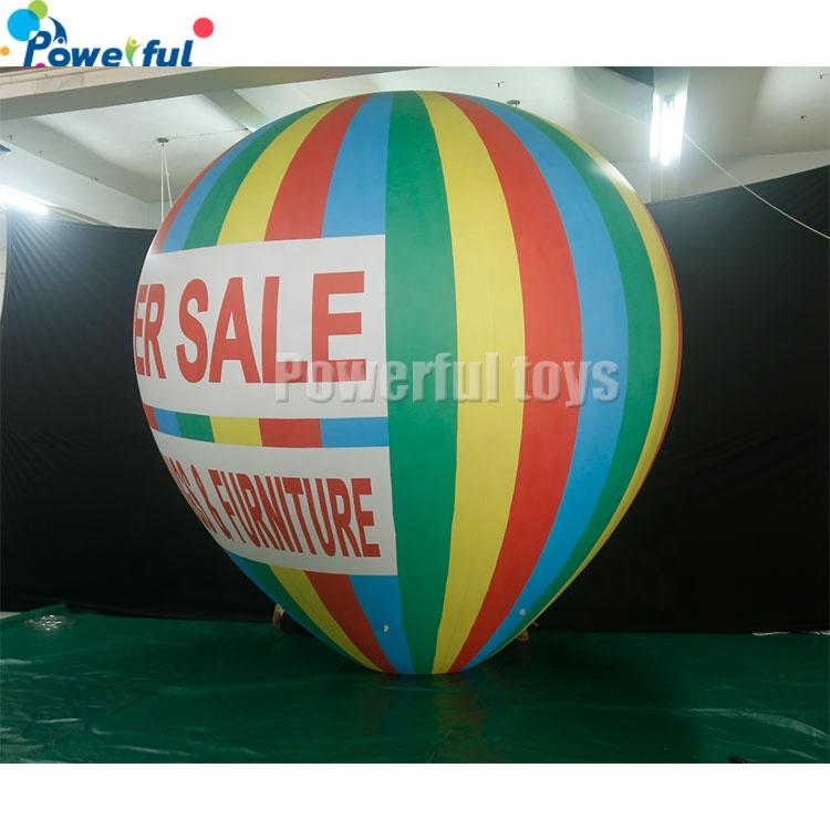 3m H Inflatable Advertising Hot Air Balloon Flying Helium Balloon Decor Toy