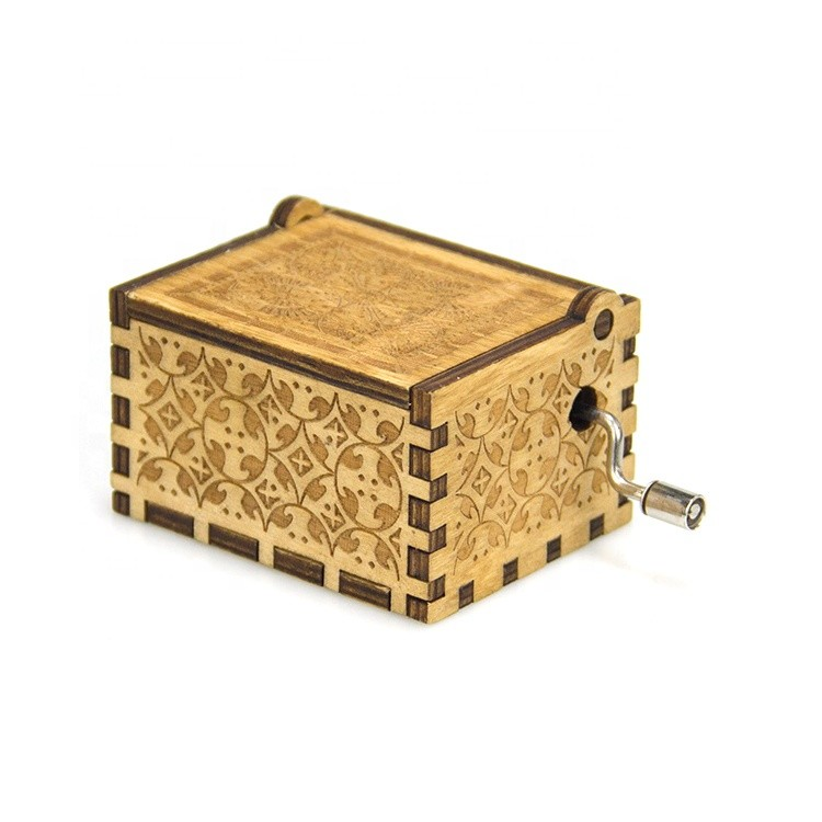 Cheap small wooden crafts christmas gift music boxes