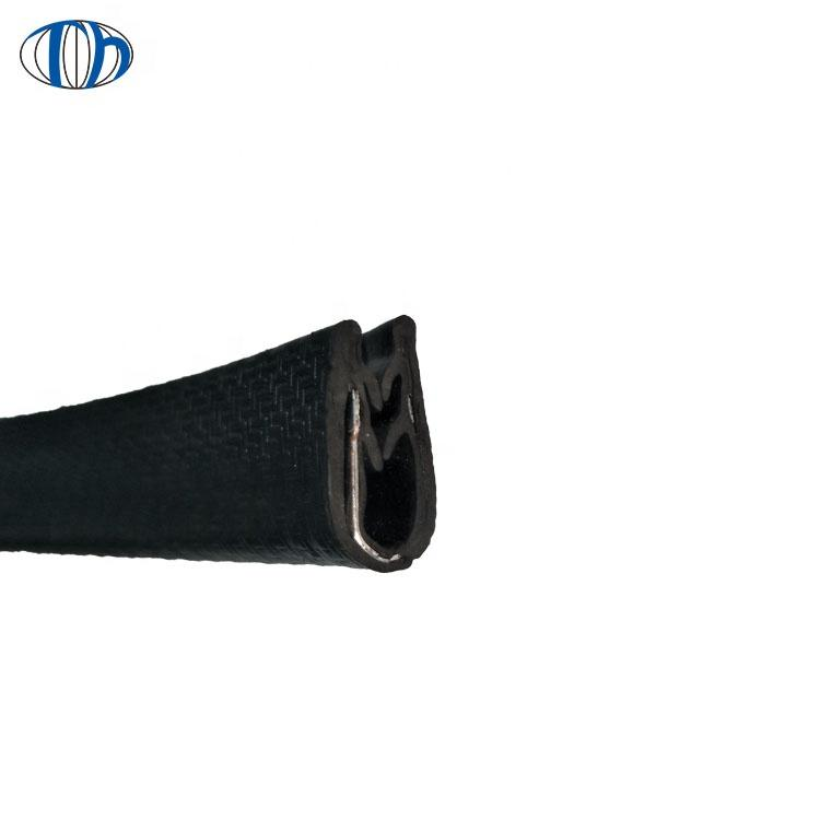 China manufacture sliding window rubber strip sliding door seal rubber waterproof strip with sheet metal inserted