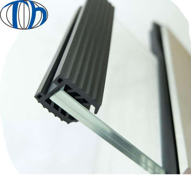 flexible U shape EPDM ,PVC rubber strip for Slotted tubeto protection sealing