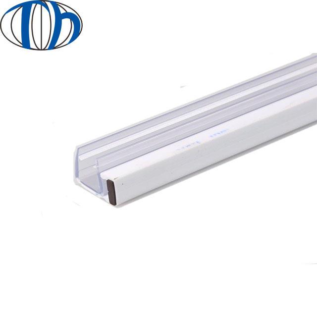 Non slip sliding shower glass door floor rubber water seal strip with magnetic