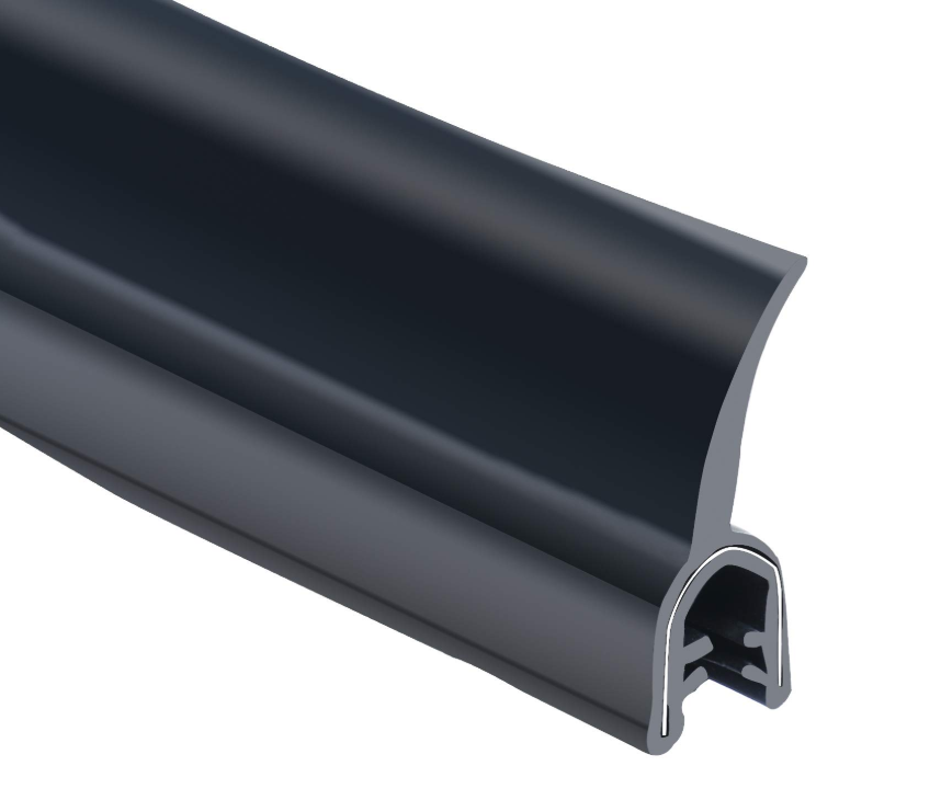 EPDM Dual Durometer Extrusion Rubber Profile Flap