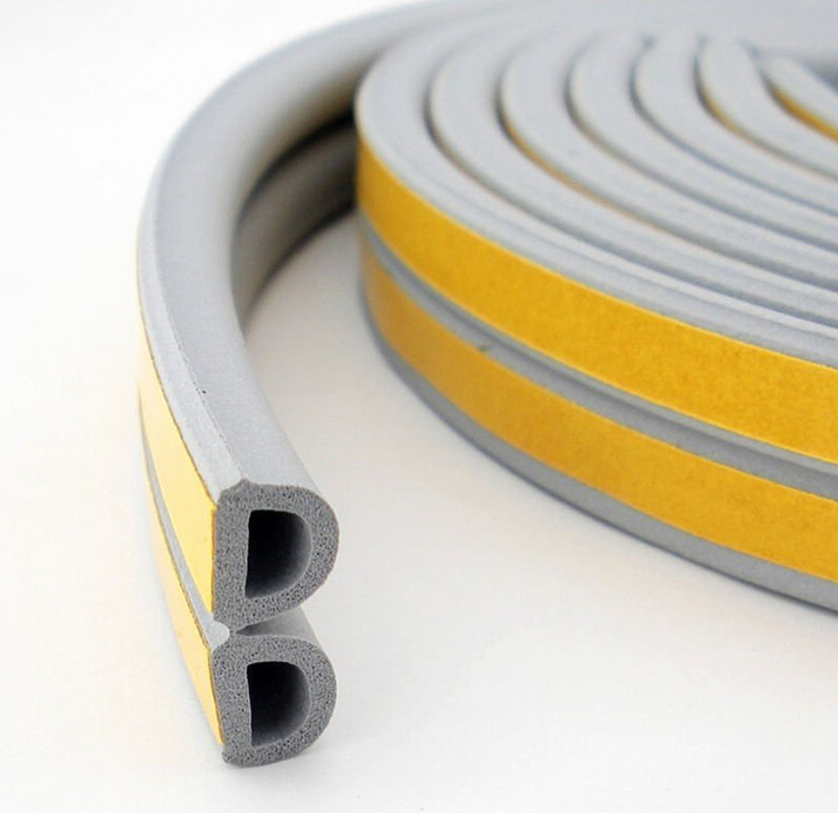 PVC d profile shaped rubber seal